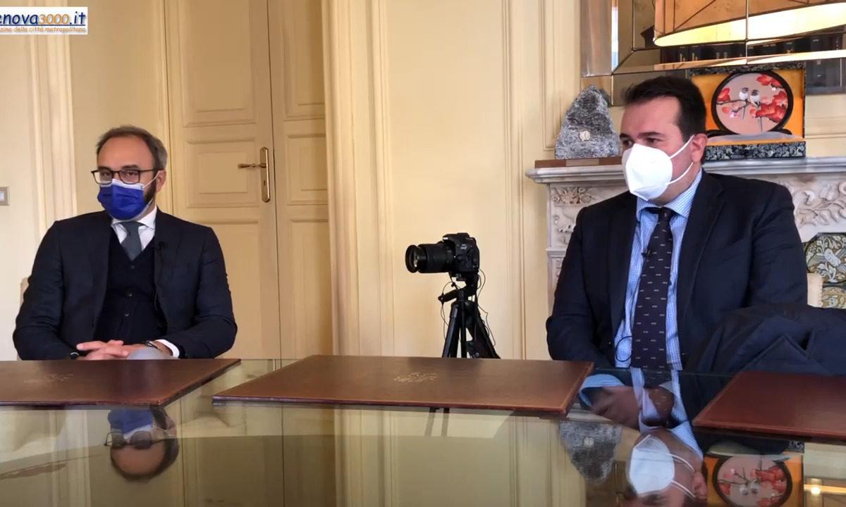 Gli spedizionieri genovesi incontrano l'assessore al porto di Genova – Vittorio Sirianni intervista Alessandro Pitto e Francesco Maresca