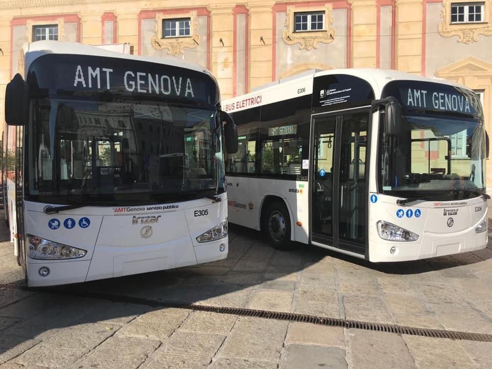 I nuovi mezzi e-bus Irizar da 10,8 metri di Amt